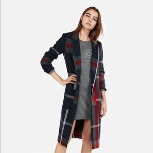 Express Plaid Car Coat